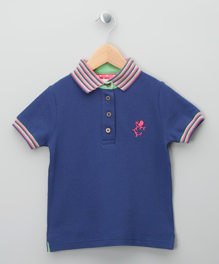 Navy Bird Organic Polo - Toddler & Kids