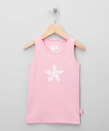 Pale Pink Flower Organic Tank - Toddler & Girls