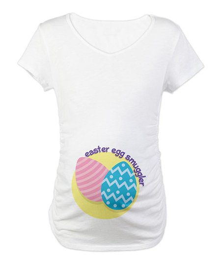 CafePress White 'Easter Egg Smuggler' Maternity Tee