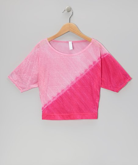 Camilla Pink Dolman Top – Girls