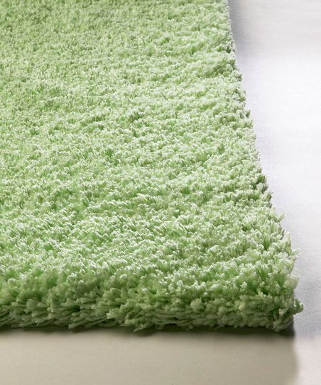 Spearmint Green Bliss Shag Rug
