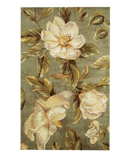 Sage Magnolia Catalina Wool Rug