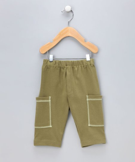 Olive & Avocado Organic Cargo Shorts - Infant & Toddler
