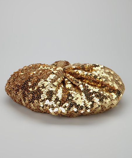 Bubblegum Diva Gold Sequin Beret