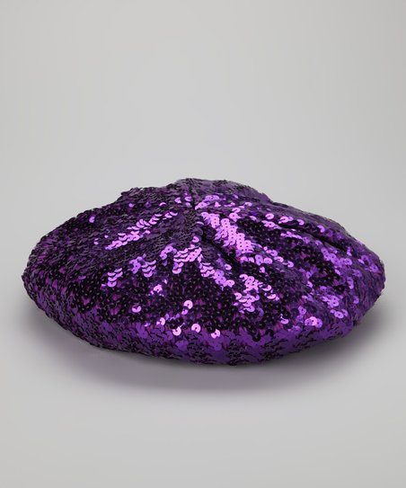 Bubblegum Diva Purple Sequin Beret
