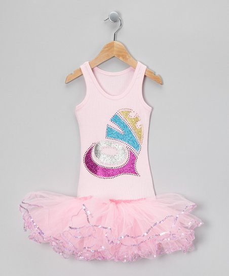 Light Pink Rainbow Love Tutu Dress - Girls