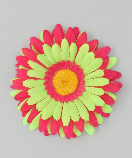 Fuchsia &amp; Green Flower Clip
