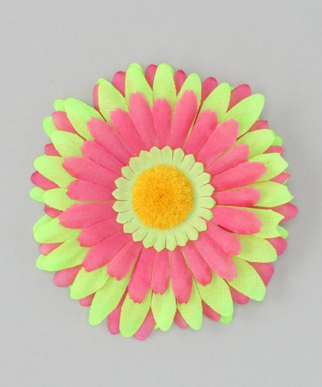 Green &amp; Pink Flower Clip