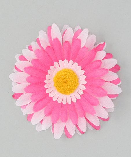 Pink &amp; Hot Pink Flower Clip