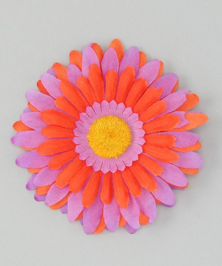 Purple & Orange Flower Clip