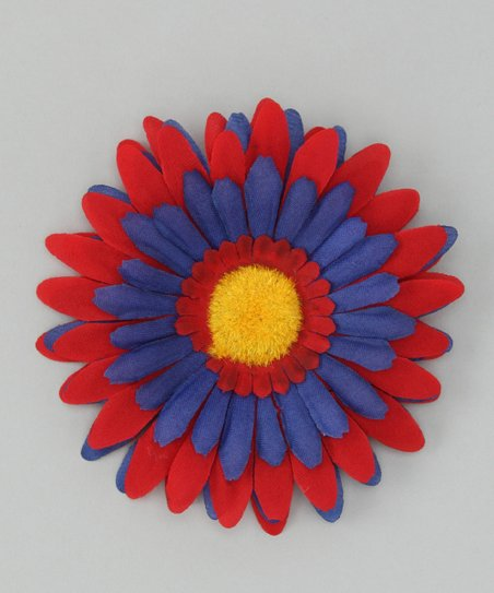 Red & Blue Flower Clip