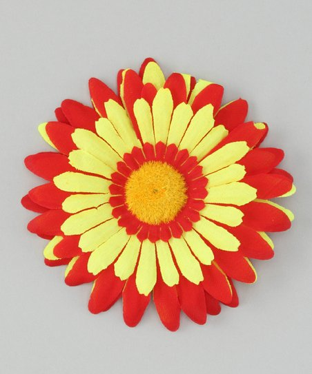 Red & Yellow Flower Clip