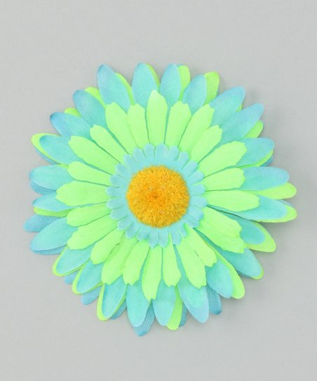 Turquoise &amp; Green Flower Clip