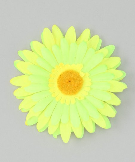 Yellow & Green Flower Clip
