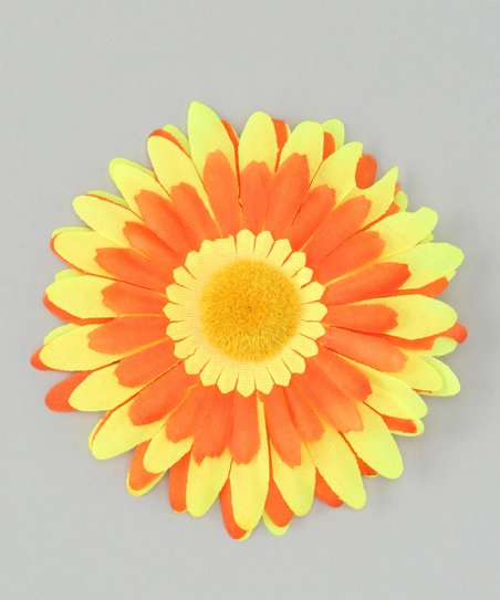 Yellow &amp; Orange Flower Clip