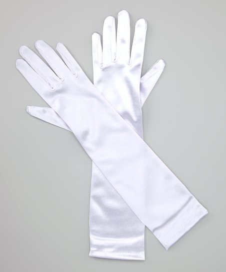 Lilac Long Satin Gloves