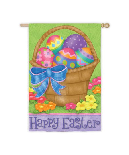 Happy Easter Basket Garden Flag