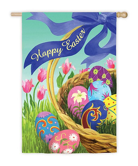 Elegant Easter Basket Garden Flag