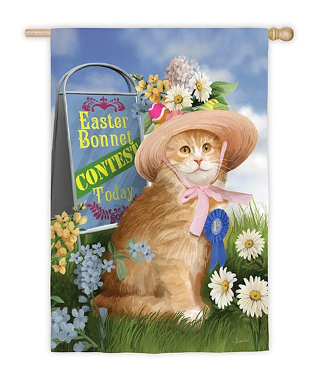 Easter Bonnet Garden Flag