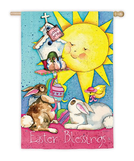 'Easter Blessings' Garden Flag