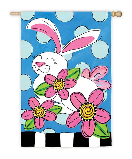 Polka Dot Bunny Flag