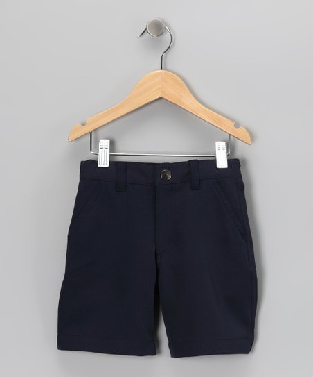 Navy Travis Shorts - Toddler