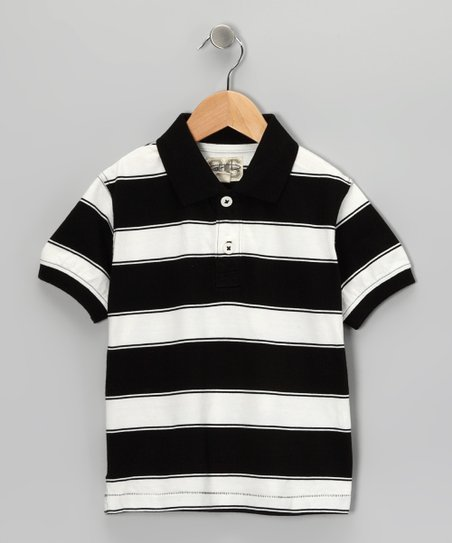Black Tyler Polo - Toddler & Boys