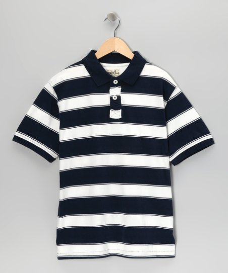 Navy Tyler Polo - Boys