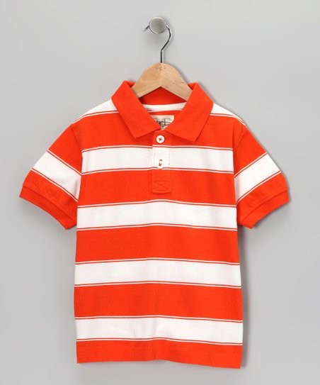 Orange Tyler Polo - Toddler & Boys