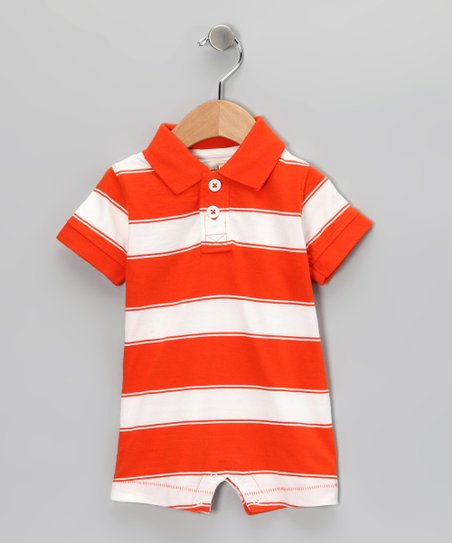 Orange Tyler Romper - Infant