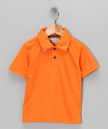 Orange Chase Polo - Toddler & Boys