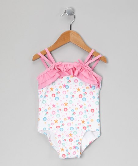 Pink Starfish One-Piece - Toddler & Girls