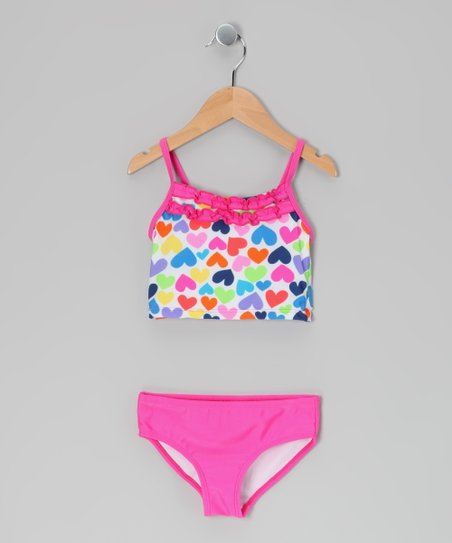 Pink Heart Tankini - Toddler