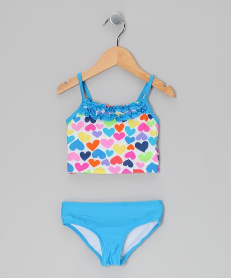 Blue Heart Tankini - Toddler