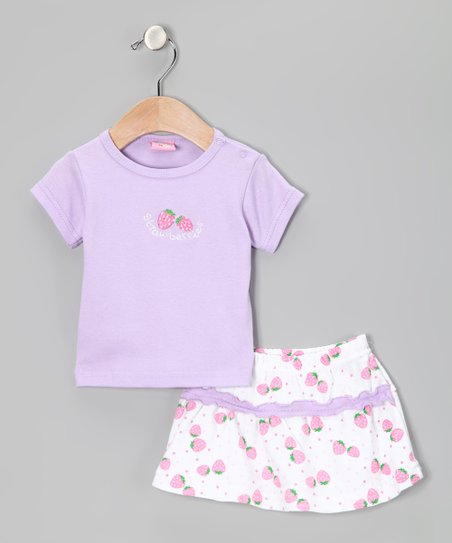 Purple 'Strawberry' Tee & Shorts