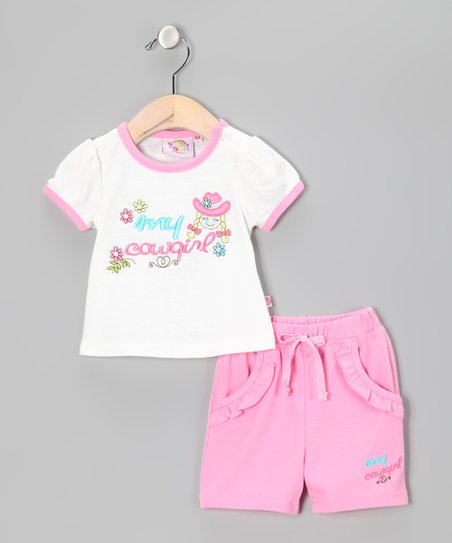 Pink 'My Cowgirl' Tee & Shorts