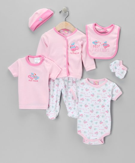 Pink Global Kitty Seven-Piece Layette Set