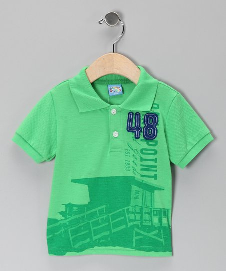 Green '48' Polo - Infant