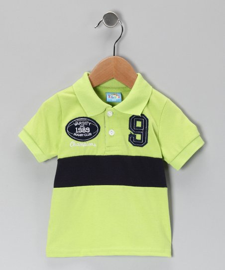 Green '9' Polo - Infant