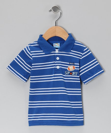 Blue Stripe Little Sport Polo - Infant