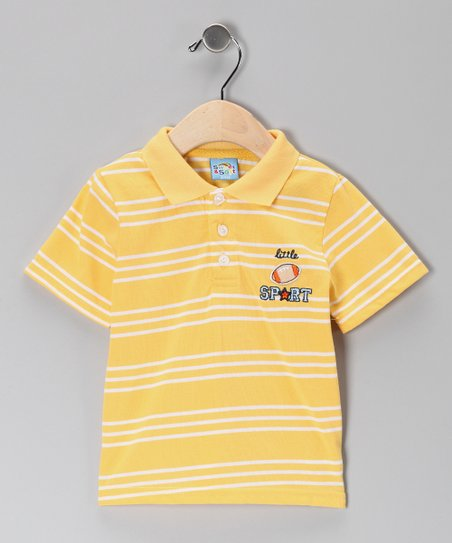 Yellow Stripe Little Sport Polo - Infant