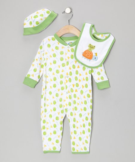 Green Frog Playsuit Set - Infant