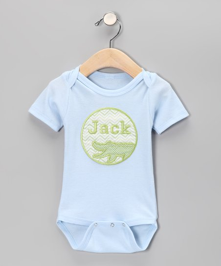 Blue Alligator Personalized Bodysuit - Infant