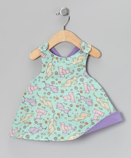 Pastel Bunny Reversible Dress - Infant, Toddler & Girls