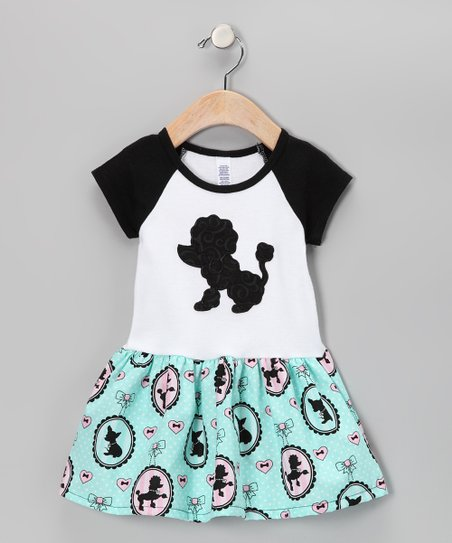 Black Poodle Raglan Dress - Infant