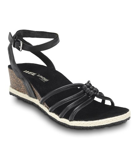 Black Serenity Leather Sandal