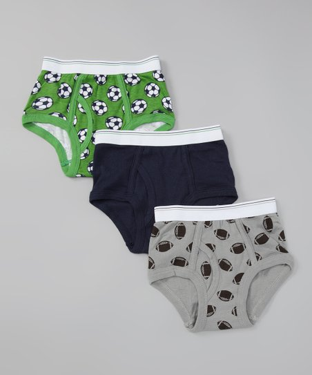 Carter&#039;s Green &amp; Gray Soccer Underwear Set - Toddler &amp; Boys