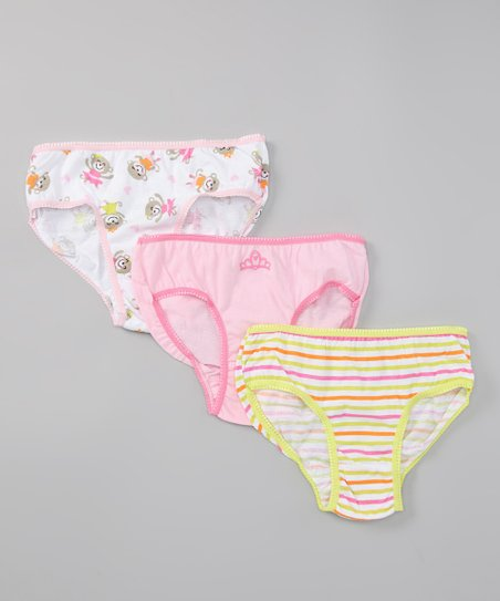 Carter&#039;s Pink Monkey &amp; Princess Underwear Set - Toddler &amp; Girls