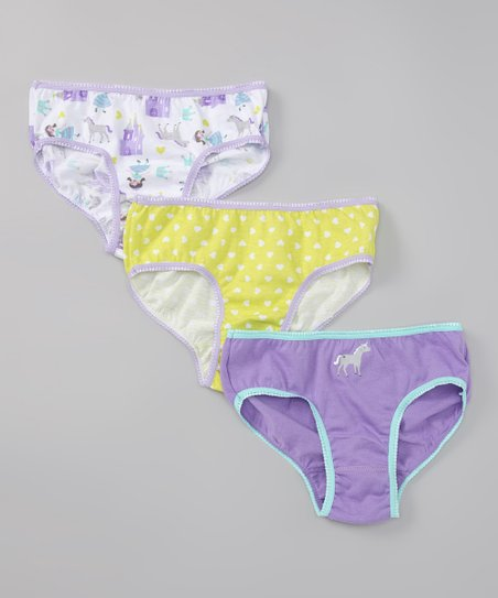 Carter's Blue Princess & Unicorn Underwear Set - Toddler & Girls