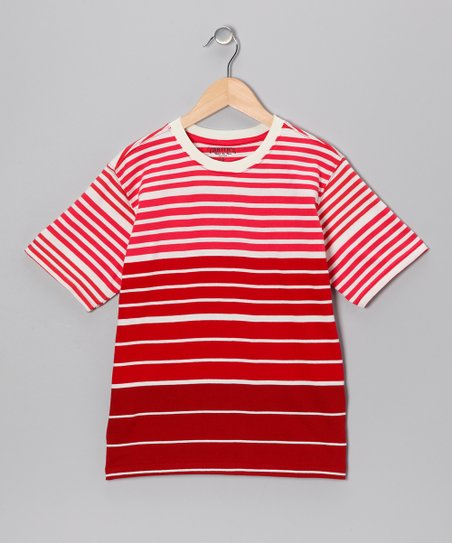Red Blaze Reversed Stripe Tee - Boys